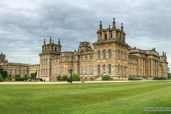 Exterior view of Blenheim Palace near Oxford, England
