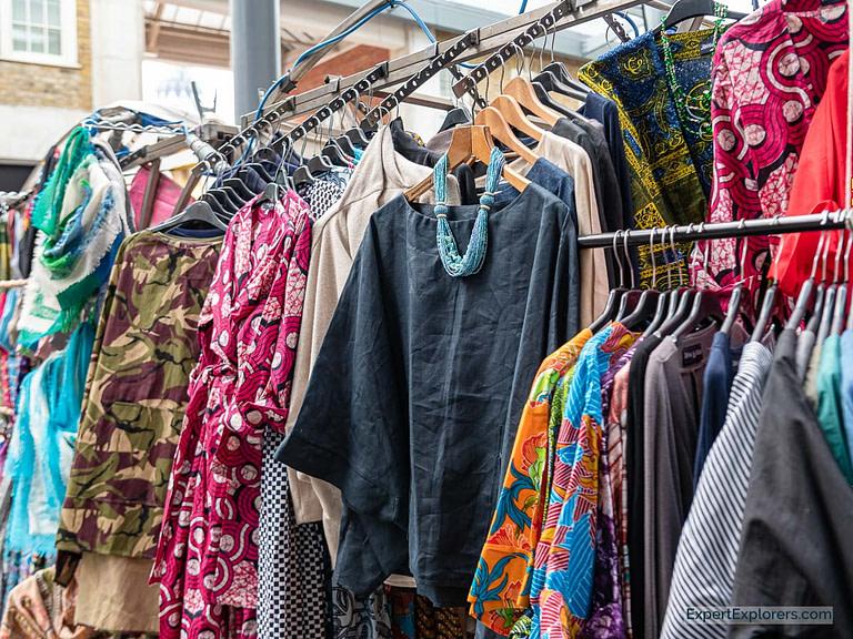 Beautiful Shirts Hang in Spitalfields Market