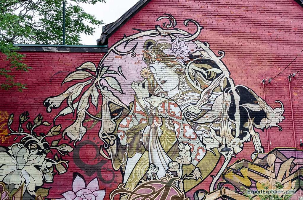 Graffiti in the Kensington area, Toronto Weekend, Canada
