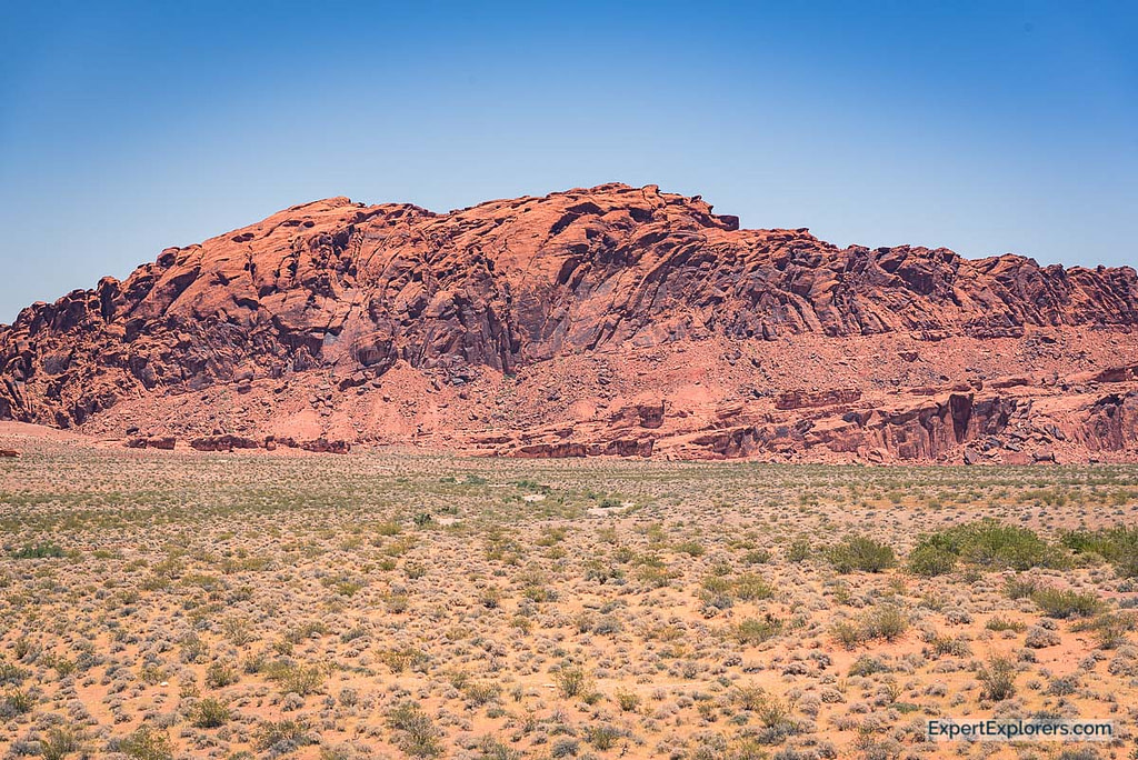 Large mountain of red rock Valley of Fire State Park, Nevada