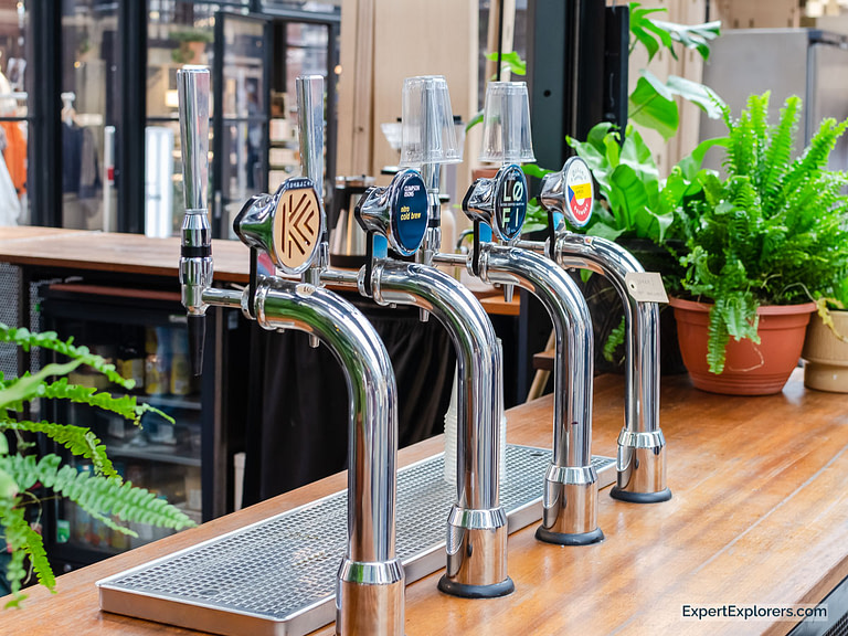 Bar taps at Climpson & Sons Coffee Bar