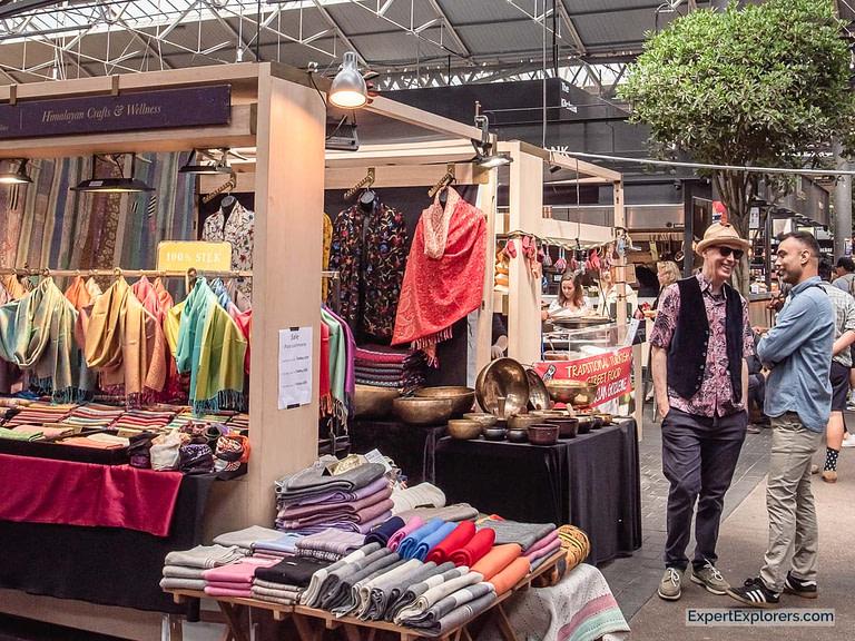 Silk Scarves Stall in Spitalfields