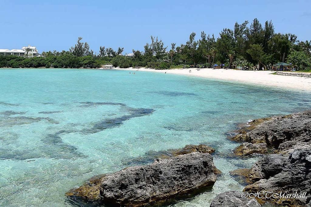 Crystal clear blue waters of Shelly bay one of Bermuda's Best Beaches