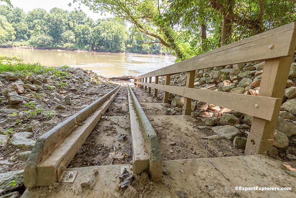 Kayak ramp leading to the Pee Dee River in Pee Dee National Wildlife Refuge, North Carolina
