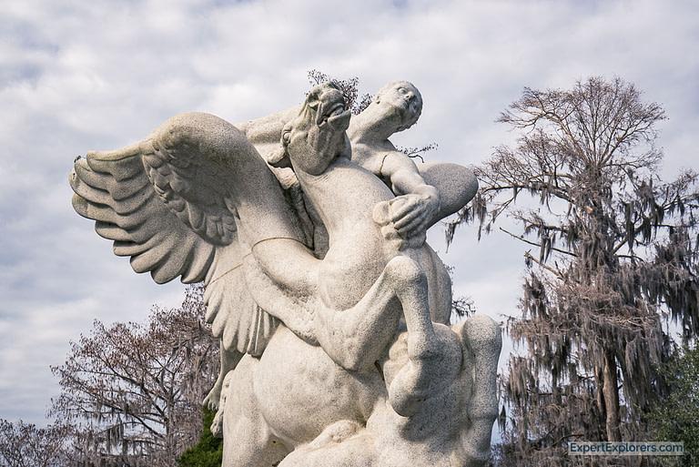 """Pegasus"" by Laura Gardin Fraser at Brookgreen Gardens in Murrells Inlet"