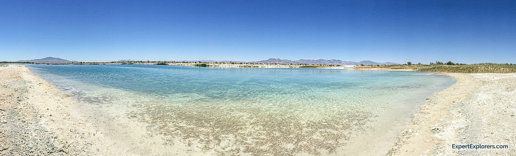 Crystal clear waters of Crystal Reservoir Ash Meadows National Wildlife Refuge, Nevada
