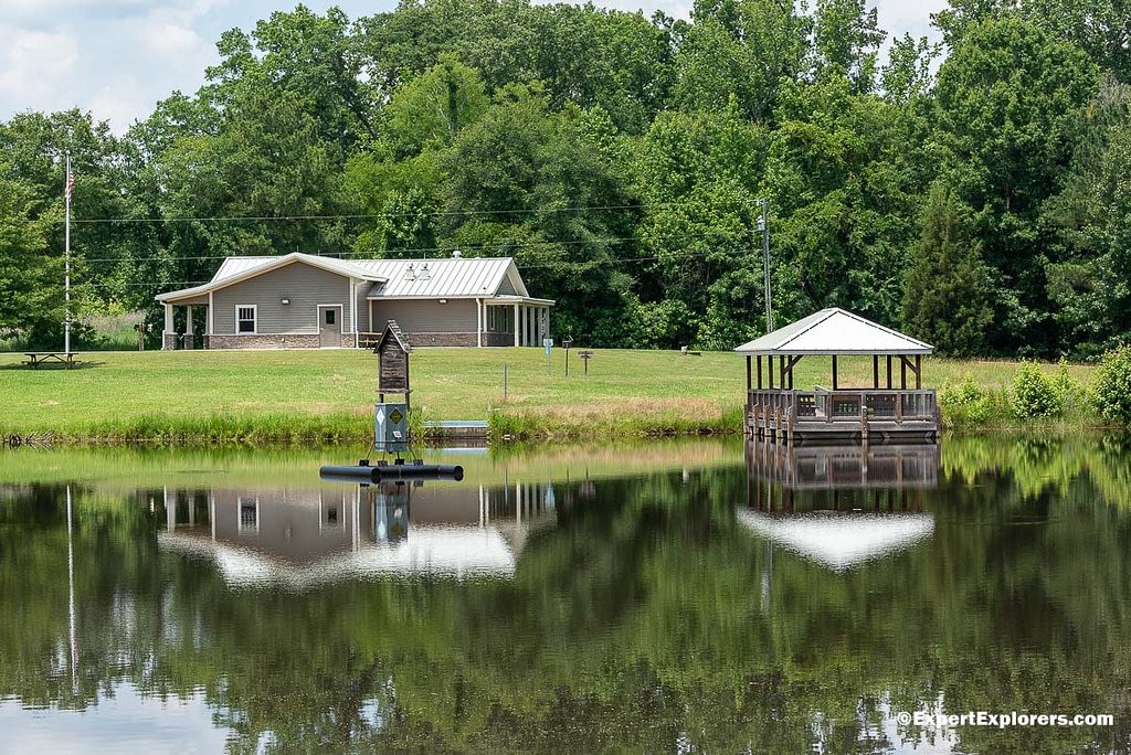 Sullivan Pond and fishing piers at Pee Dee National Wildlife Refuge, North Carolina