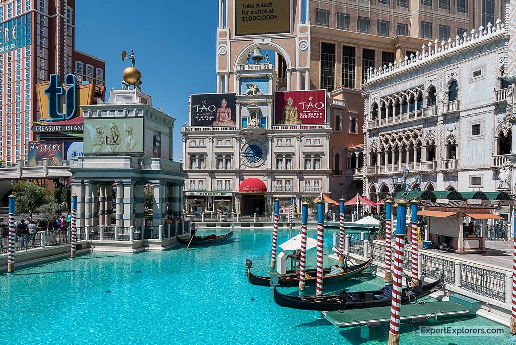 Canal Boats outside The Venetian, Las Vegas
