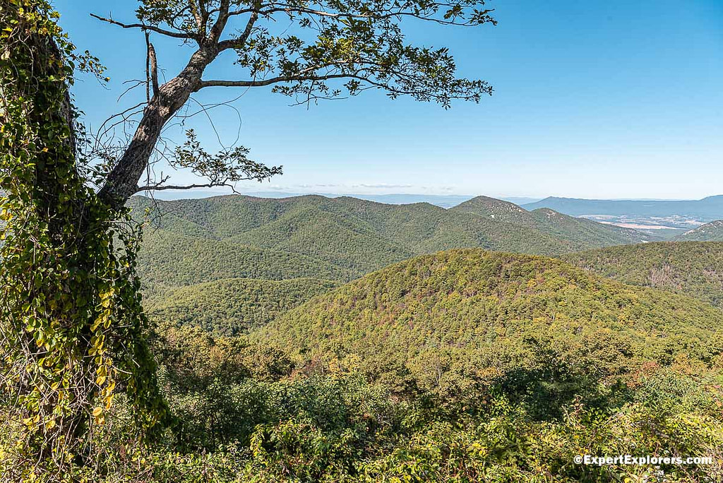 View from Big Run Overlook at the Shenandoah National Park