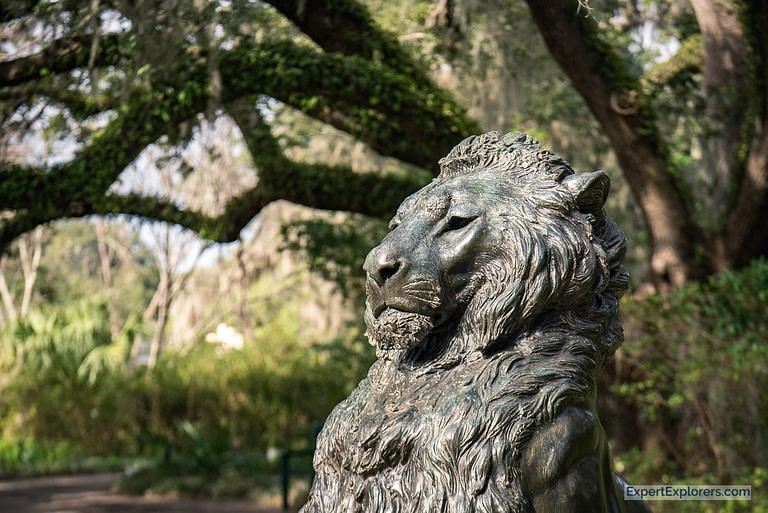 """Lion"" by Anna Hyatt Huntington"