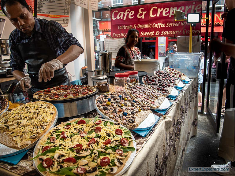 Creperie Stall in the Sunday UpMarket London