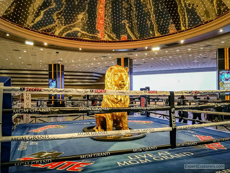 Boxing Ring in the lobby of the MGM Grand, Las Vegas