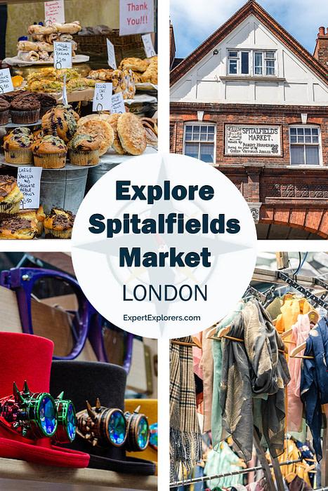 Explore Spitalfields London Pinterest Image