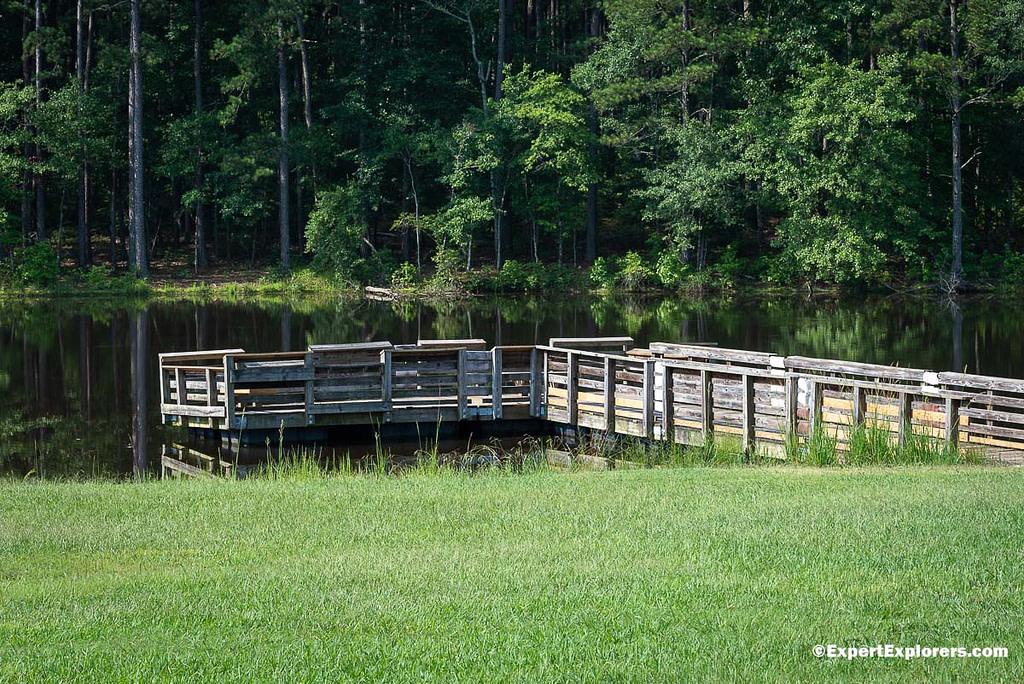 Fishing pier on Sullivan Pond Pee Dee National Wildlife Refuge, North Carolina