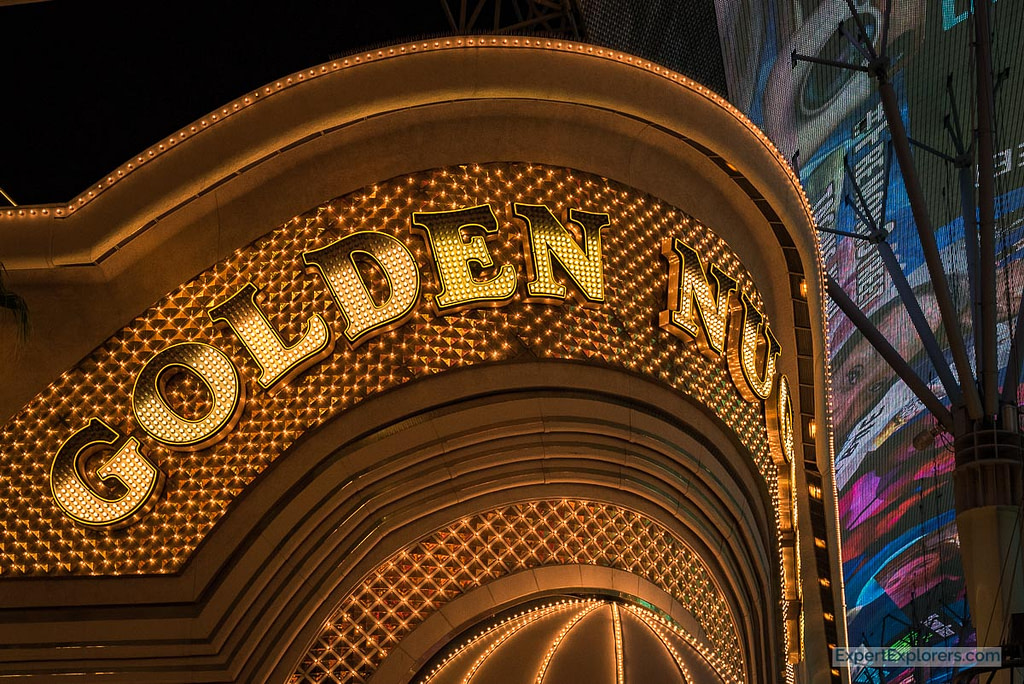 Golden Nugget Hotel and Casino Frontage lights, Fremont Street, Las Vegas