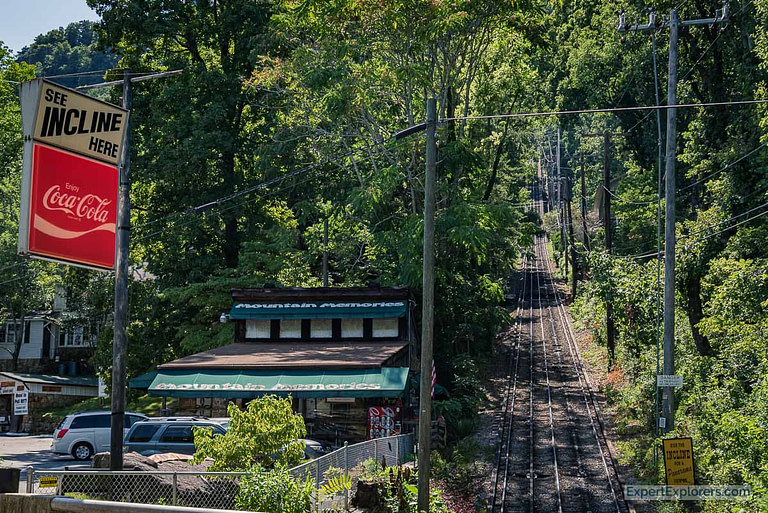 Mountains Memories Shop sits along side the Incline Railway in Chattanooga Tennessee