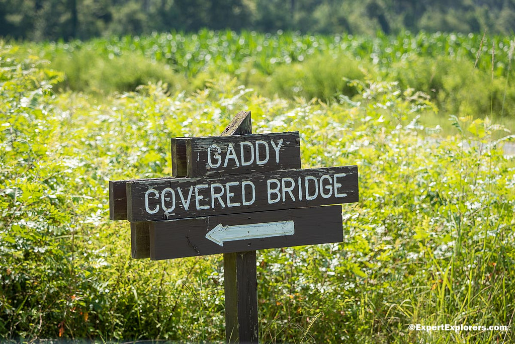 Sign to Gaddy Bridge in Pee Dee National Wildlife Refuge, North Carolina