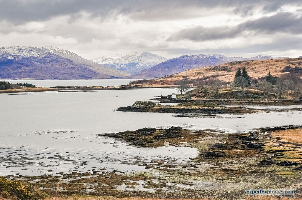 View over Lochs and Mountains, Isle of Skye, Scotland