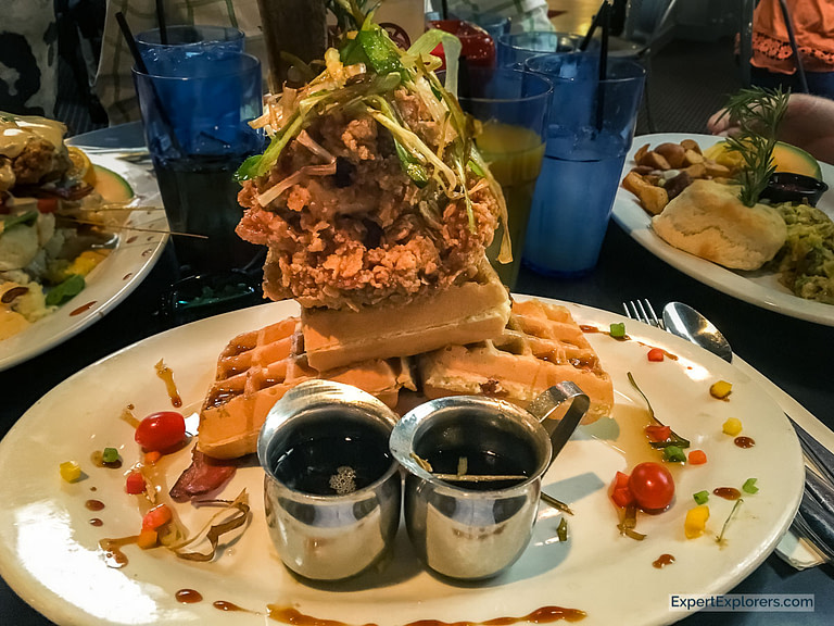 Hash House A Go Go, Chicken and Waffles.