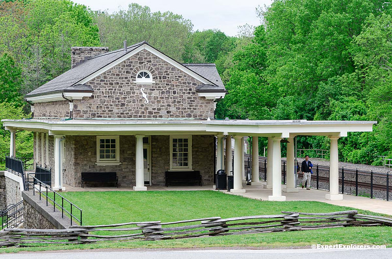 Valley Forge Train Station at Valley Forge National Park, Pennsylvania