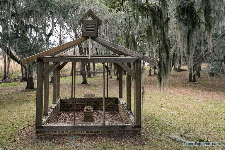 Ruin of a plantation smokehouse at Brookgreen Gardens in Murrells Inlet