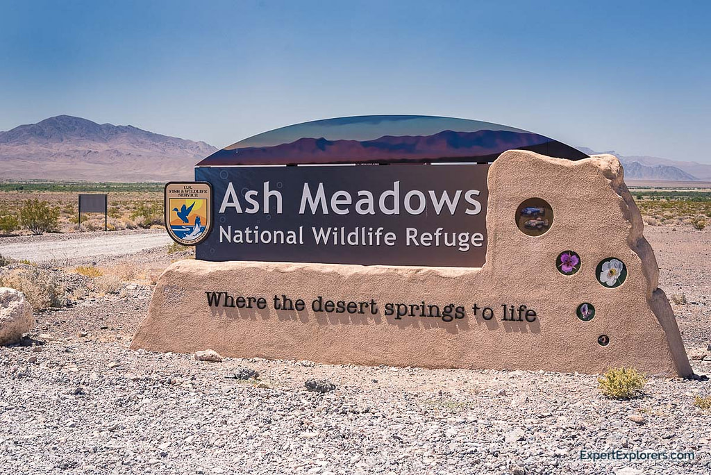Ash Meadows National Wildlife Refuge sign, Nevada