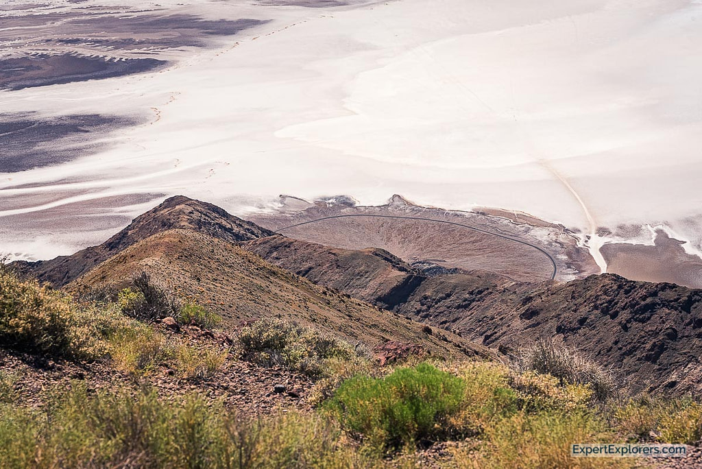 Badwater Basin as seen from Dantes View, Death Valley National Park