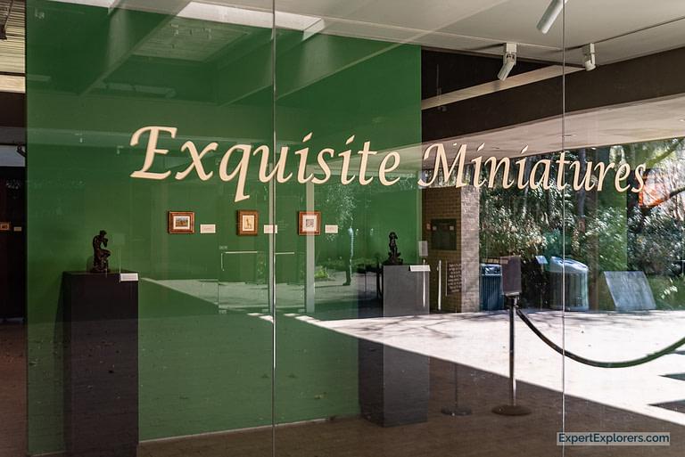 Exquisite Miniatures exhibit at Brookgreen Gardens in Murrells Inlet