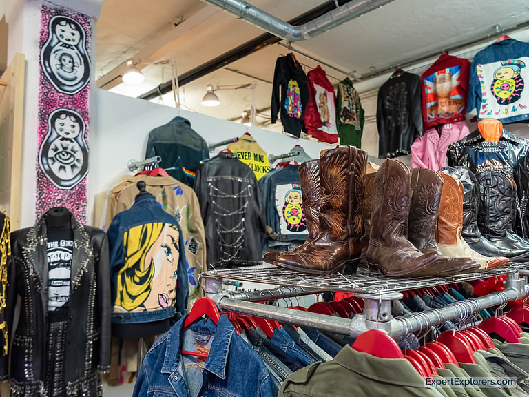 Cowboy Boots and Vintage Wares in the Vintage Market London
