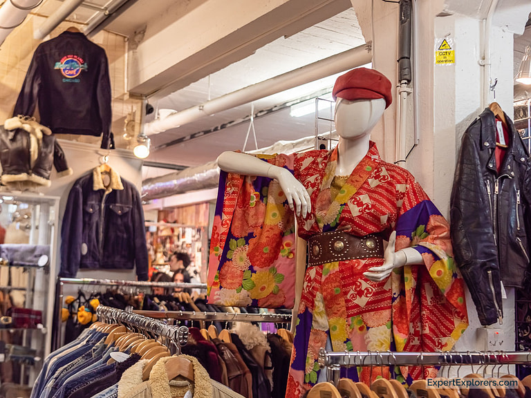Mannequin Wearing Kimono in the Vintage Market London
