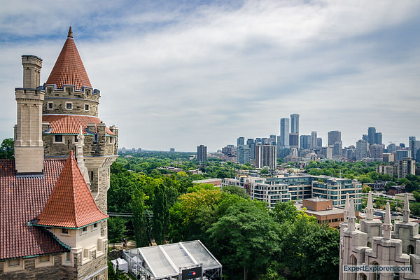 City skyline from Casa Loma, Toronto Weekend, Canada