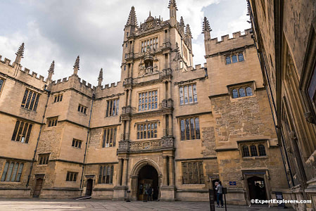 Tower of the Five Orders in the Bodleian Library at Oxford University
