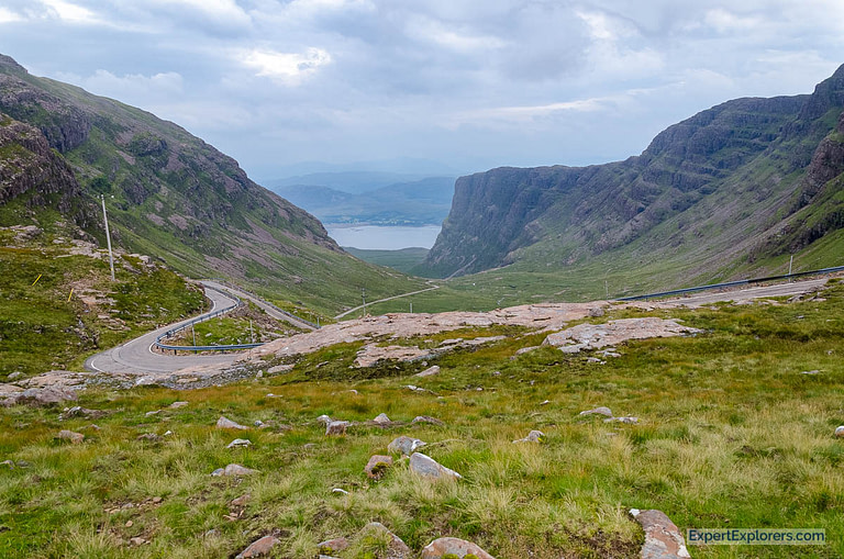 Bealach na Ba Viewpoint on the road to Applecross, Scotland