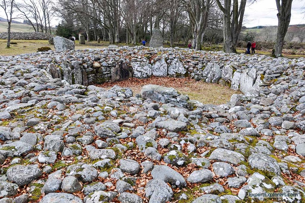 Sacred burial ground from the bronze age, Clava Cairns, close to Inverness, Scotland
