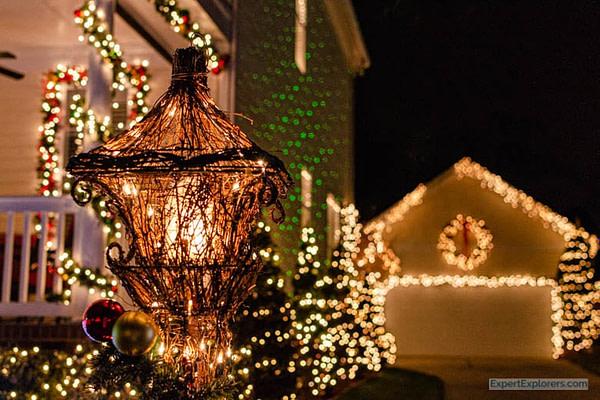 McAdenville Christmas lights decorate house