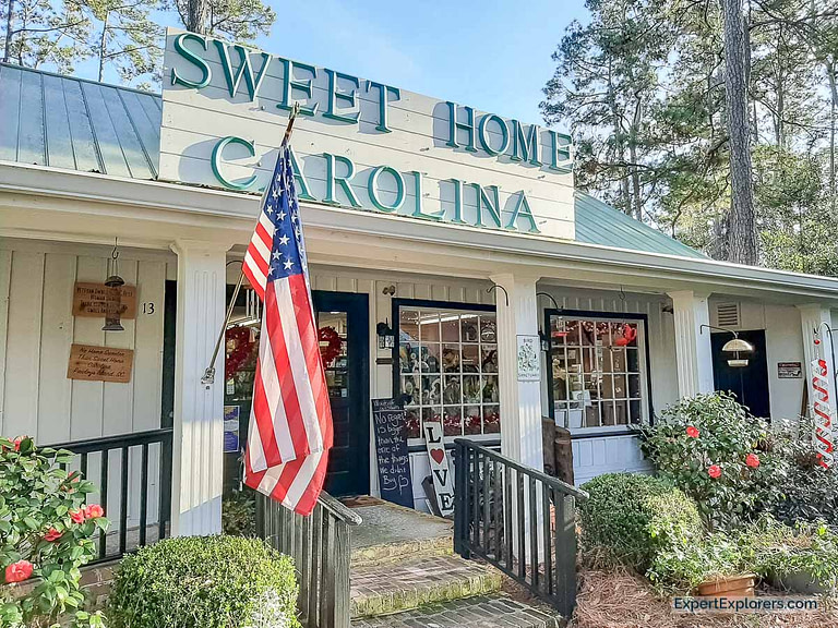 Sweet Home Carolina storefront at the Hammock Shop Village in Pawleys Island