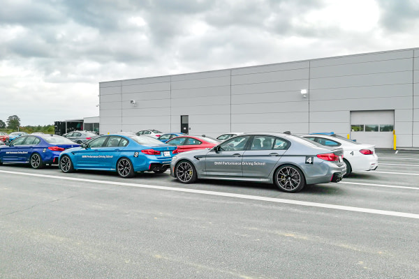 Track Line up of cars at the BMW Performance Center