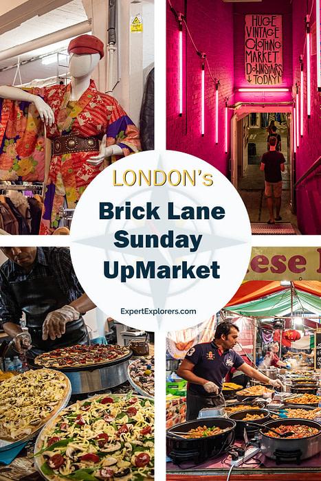 London's Brick Lane Sunday UpMarket Pinterest Image