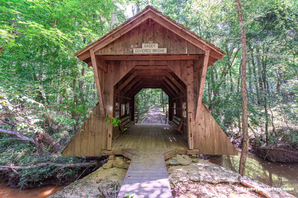 Gaddy Covered Bridge at Pee Dee National Wildlife Refuge in North Carolina