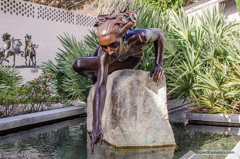 """""""Reaching"""" by EvAngelos William Frudakis at Brookgreen Gardens in Murrells Inlet"""
