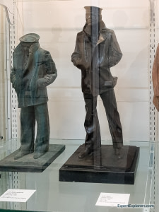 Miniature Lone Sailor models created by Stanley Bleifeld at Brookgreen Gardens in Murrells Inlet