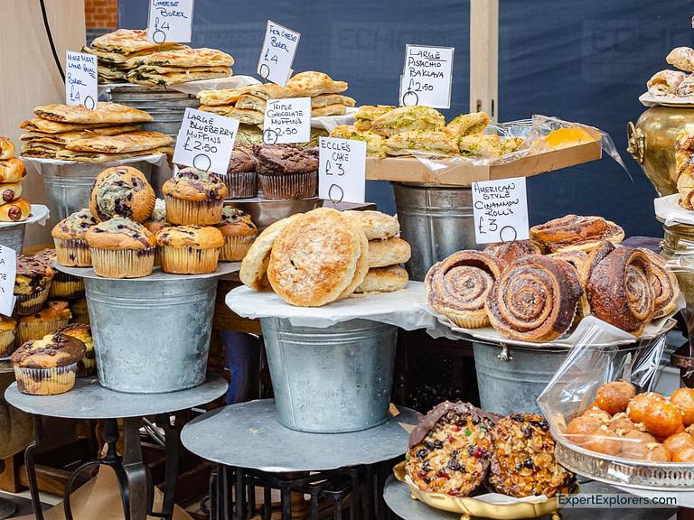 Pastries Await Sale