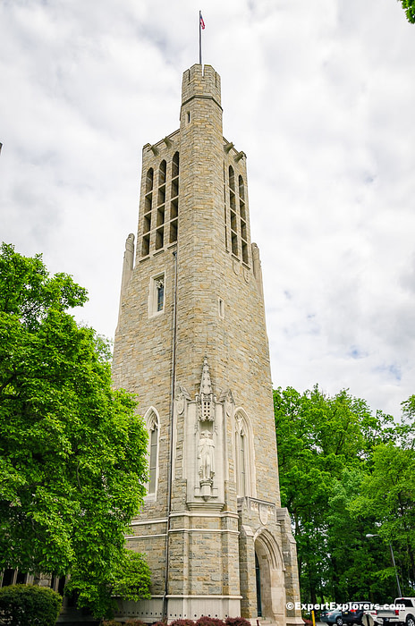 Bell tower at Washington's Memorial Chapel in Valley Forge National Park, Pennsylvania