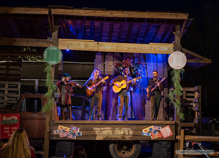 Christmas Bluegrass show at Carowinds WinterFest