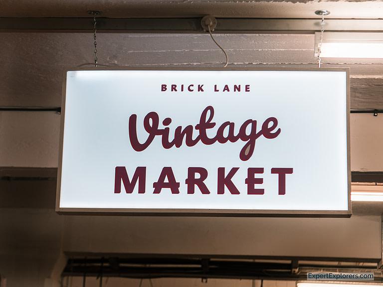 Vintage Market Brick Lane Sign London
