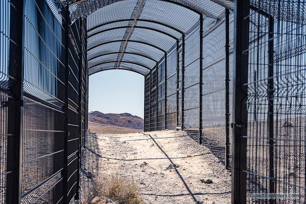 Fenced area at Devils Hole, Ash Meadows National Wildlife, Nevada
