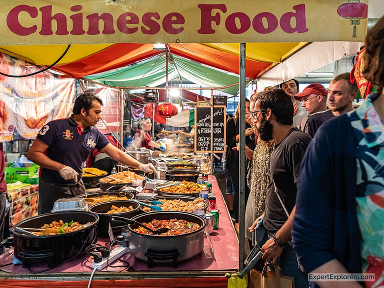 Chinese Food Stall in the Sunday UpMarket London