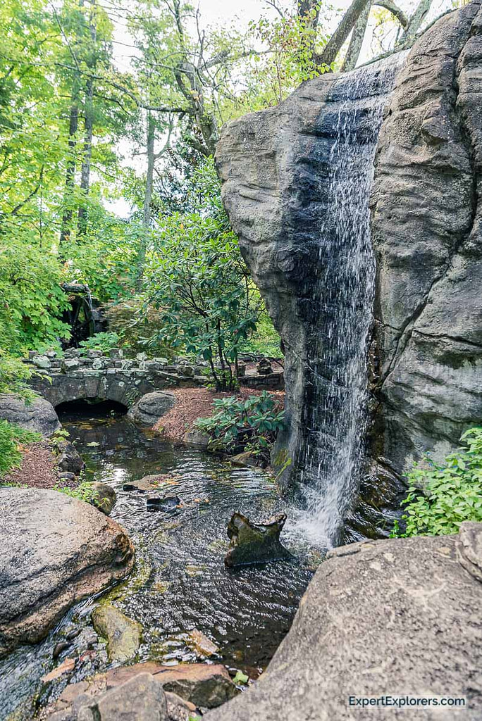 Waterfall in the gardens of Rock City in Chattanooga Tennessee