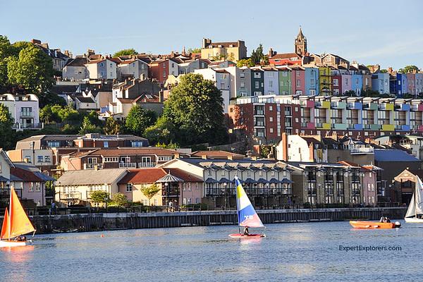 Sailboats on the River Avon in Bristol's city center