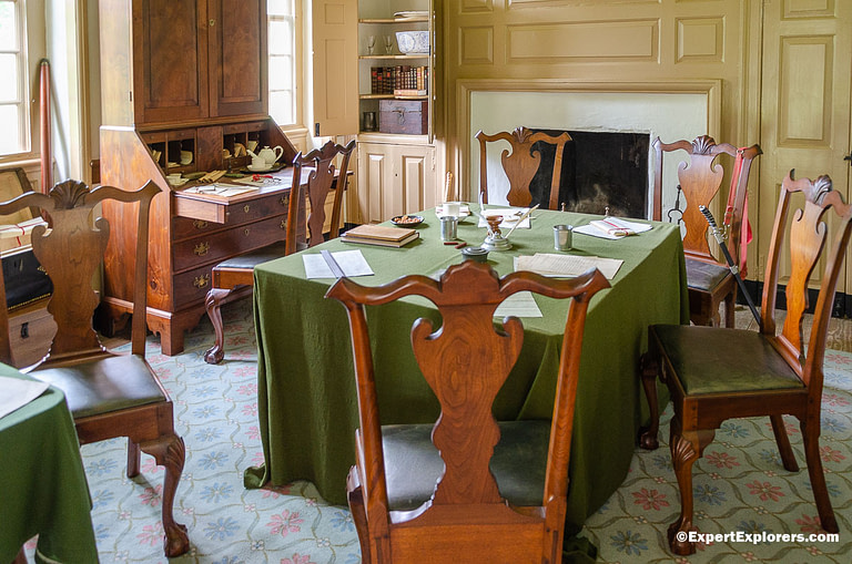 George Washington's office at his headquarters in Valley Forge National Park, Pennsylvania